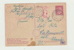 INTERO POSTALE TEDESCO 6  DEUTSCHES REICH VIAGGIATA 20/12/1944 CONDIZIONI SUFFICIENTI - 1939-45