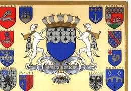56 BlasonsVannes Henebont Auray Quiberon Ploermel Belle Isle Port Louis Lorient Rochefort Josselin Pontivy Roche Bernard - Vannes