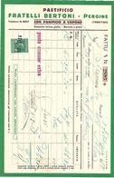 FAT079 - FATTURA 1934 -PASTIFICIO FRATELLI BERTONI - PERGINE (TRENTINO) - MARCHE DA BOLLO - Italia
