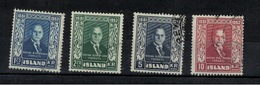 ISLANDE - Yvert N° 239 / 242 - Usados