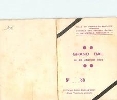 FORGES Les EAUX- Grand Bal Du 20/01/1935 Carnet De Bal - Forges Les Eaux