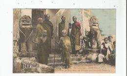 SIEMP REAP 1296 EX CAMBODGE BONZES SE RENDANT DANS LES VILLAGES POUR RECUEILLIR L'AUMONE - Cambodge