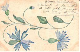 Thèmes - Fêtes - Voeux - Nouvel An - Fleurs Aquarelle - Nouvel An