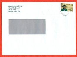 Kazakhstan 1993. Kazakh Poet. Envelope Passed The Mail. - Kazakhstan