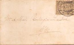 LUXEMBOURG ENVELOPPE POUR E/V - 1907-24 Ecusson