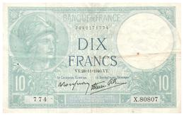 Billet > France > 10 Francs  1940 - 1871-1952 Circulated During XXth