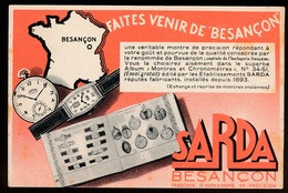 BESANCON - RECLAME SARDA - 2 SCANS - Besancon