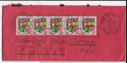 1962 - AFFRANCHISSEMENT ARMOIRIES ORAN Sur ENVELOPPE De CLERMONT-FERRAND => ORCINES - Storia Postale