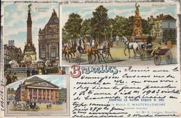 Bruxelles - Le Monument Anspach - Boulevard Du Régent - Théâtre De La Monnaie - 1903 - Bruxelles-ville