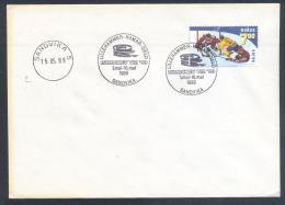Norway 1999 Cover: Ice Hockey Sur Glace Eishockey; IIHF World Championship; Sandvika Cancellation - Hockey (sur Glace)