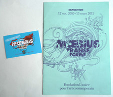DOSSIER DE PRESSE - Livret Catalogue Exposition MOEBIUS TRANSFORME 2011 + CARTE CLUB - Livres, BD, Revues