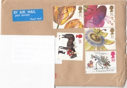 5 Fach MIF Auf ENGLAND Brief Nach Wien (kompletter Brief, Auf Scan Abgedeckte Adressen) - Luftpost & Aerogramme