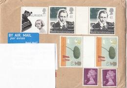 7 Fach MIF Auf ENGLAND Brief Nach Wien (kompletter Brief, Auf Scan Abgedeckte Adressen) - Luftpost & Aerogramme