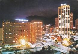HOTEL TEQUENDAMA VISTA NOCTURNA DEL HOTEL, RECOLETA DE SAN DIEGO Y ED SEGUROS. BOGOTA, COLOMBIA. CIRCA 1980's- BLEUP - Colombie