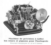 Machine à Tailler Les Roues Et Pignons Pour L'horlogerie (Suisse)  (papier 10 X 11 Cm ) - Máquinas