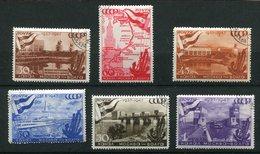 Russie Ob N° 1144 à 1149 - An. Du Canal De La Volga - 1923-1991 URSS