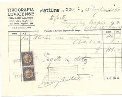FAT094 - FATTURA 1934 - TIPOGRAFIA LEVICENSE - LEVICO (TRENTINO) - MARCHE DA BOLLO - Italien