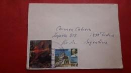 Le Paraguay Enveloppe Circulé Avec Timbre De Papa Et Les Autres - Paraguay