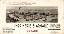 RARE BUVARD IMPRIMERIE B. ARNAUD LYON VILLEURBANNE - Papeterie