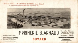 RARE BUVARD IMPRIMERIE B. ARNAUD LYON VILLEURBANNE - Stationeries (flat Articles)