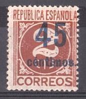 Espagne - 1938 - N° 606 (surchargé) - Neuf * - 1931-Aujourd'hui: II. République - ....Juan Carlos I