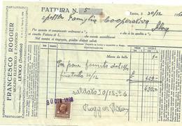 FAT098 - FATTURA 1936 - FRANCESCO ROGGER - LEVICO (TRENTINO) - MARCHE DA BOLLO - Italien