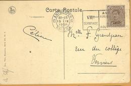 _Op 547:N°136: 6 ANTWERPEN 6 ANVERS VIIe Olympiade ANTWERPEN 15-IX 1920 - Estate 1920: Anversa