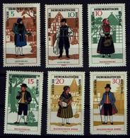 DDR 1966 - Trachten - MiNr 1214-1219 - Kostüme