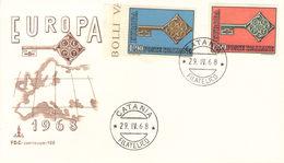 FDC FIRST DAY COVER ITALIA EUROPA 29 APRILE 1968. - 6. 1946-.. Repubblica