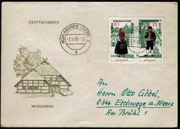 DDR 1966 - Trachten - MiNr 1216-1217 Auf Brief - Kostüme