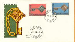 ITALIA 1968 - EUROPA - FDC SILIGATO. - 6. 1946-.. Repubblica