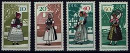 DDR 1968 - Trachten - MiNr 1353-1356 - Kostüme