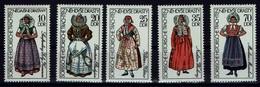 DDR 1977 - Trachten - MiNr 2210-2214 - Kostüme