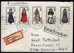 DDR 1977 - Trachten - MiNr 2210-2214 Auf Brief - Kostüme
