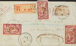 France  COVER. Yv 121(3), 153. 1919. 1 Fr Lie De Vin And Olive, Three Stamps (one With Crease On Margin) And 50 Cts + 50 - Non Classés