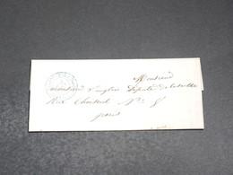 FRANCE - Lettre De Paris Pour Paris En 1853 - L 20364 - 1849-1876: Période Classique