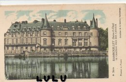 DEPT 78 : Carte Historique ; Rambouillet Le Château Pris Des Canaux : Coll. De La Solution Pautauberge - Rambouillet (Château)