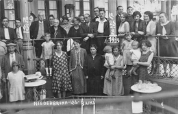 NIERDERBRONN LES BAINS      CARTE PHOTO  GROUPE  STUFFLER PHOTOGRAPHE - Niederbronn Les Bains