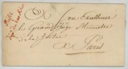 Préfet Du Département Du Bas-Rhin / LàC 1811 Adrien De Lezay-Marnésia Pour Duc De Massa Ministre De La Justice ? - Marcophilie (Lettres)