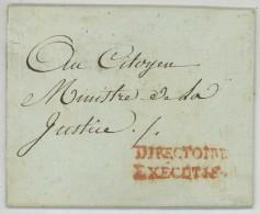 Marque DIRECTOIRE EXECUTIF / LàC 1798 Pour Ministre De La Justice . Signature Du Secrétaire Général Joseph-Jean Lagarde - Marcophilie (Lettres)