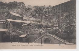 HERAULT - CETTE - Le Collège Sous La Neige - 20 Février 1913  ( - N'a Pas Circulé ) - Sete (Cette)