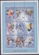 Guinée N° 2133 / 41 XX Jeux Olympiques D'hiver à Salt Lake City ( I ),  Les 9 Vals Sans Ch. Se Tenant En Une Feuille,TB - Guinée (1958-...)