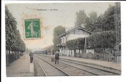 Dieulouard 54 La Gare (colorisée) Circulée 1907 J. Benoît - Dieulouard