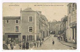 CPA. Cholet. Le Puits De L'aire Et La Rue Du Coin.  Café Du Poste Lagarde.(711) - Cholet