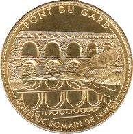30 VERS PONT DU GARD N°4 REVERS OLIVIER MÉDAILLE ARTHUS BERTRAND 2012 JETON MEDALS TOKEN COINS - Arthus Bertrand