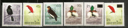 Oiseaux De Paradis De Papouasie Yv.642/45,  Neufs ** INCLUS RARES Timbres Surchargés  45t & 90 T. Côte 34,00 € EUR - Papouasie-Nouvelle-Guinée