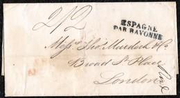 1819. MADEIRA A LONDRES VÍA GIBRALTAR POR TIERRA VÍA SAN ROQUE. EX. COL. STIRRUPS. - Gibraltar
