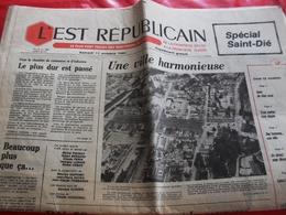 L'Est Républicain Samedi 11 Octobre 1980 Supplément Spécial Saint-Dié - Newspapers