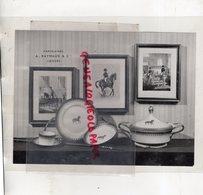 87 - LIMOGES- PORCELAINES A. RAYNAUD & CIE- RARE PHOTO ORIGINALE AVEC CALQUE POUR MENTION PORCELAINE - Métiers