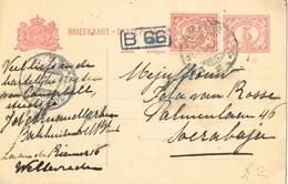 29327. Entero Postal WELLEREDEN (Nederland Indie) 1924 To Soerabaja - Indes Néerlandaises